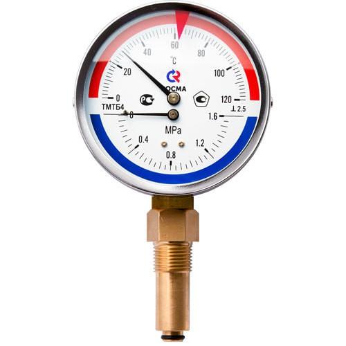 Термоманометр ТМТБ-31Т.1 (0-120) (0-1МРа) G1/2.2.5